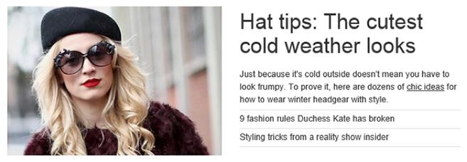 Hat slide