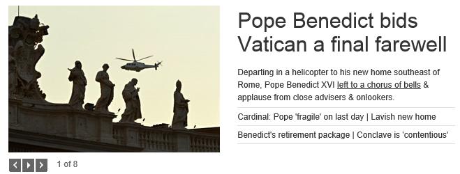 Pope departure