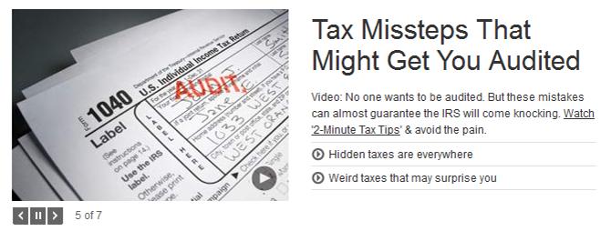 Tax missteps