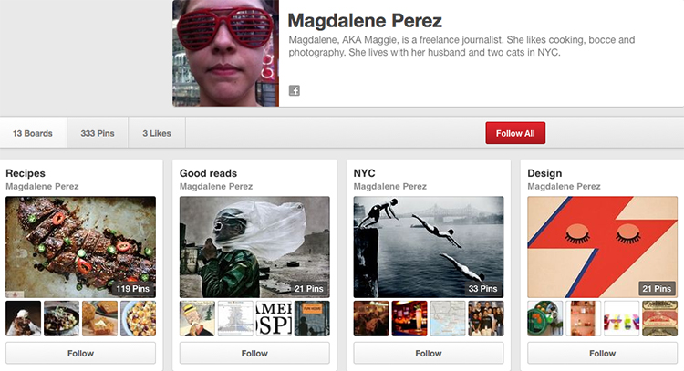 Pinterest profile image
